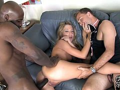 That's an ass I'd like to fuck! Watch Amy Brooke, a hot blonde babe, getting fucked in the butt by a big black cock in this cuckold scene.
