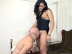 Take a look at this hot scene where this horny shemale sucks on this guy's thick cock before being drilled by it.