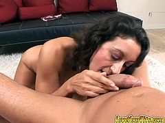 Incredibly passionate dark head old lady employs her massive droopy Mamillas to satisfy incredibly thirsting penis of her feverish man. Watch this kinky babe in My XXX Pass sex clip!