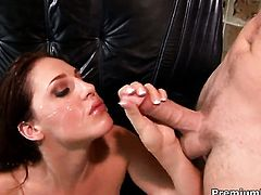 Lauren Phoenix gets turned on then mouth fucked