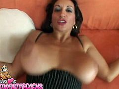 Long haired black head torrid wench greedily swallows massive sugary pecker and then hammers it with her mesmerizing giant Mamillas. Watch this harsh poking in My XXX Pass porn clip!