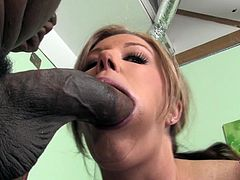 Hot blonde mom Zoey Andrews shows her big natural tits to some black dude and turns him on. Then she sucks and rubs his fat schlong and they fuck doggy style and in other positions.