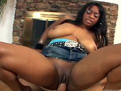 Make sure you have a look at this rough hardcore scene where the busty ebony babe Carmen Hayes gets a mouthful of cum after riding a big cock.