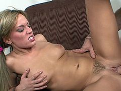 Having a big cock pounding her wet pussy makes Holly Wellin to play really wild