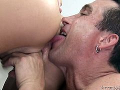Check out this hardcore scene where the sexy brunette Alison Tyler gets fucked by a horny guy as you check out her sexy body and hear her moan.