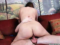 Katja Kassin with juicy booty and hairless twat is a slut who wants to ride Dane Crosss cock forever