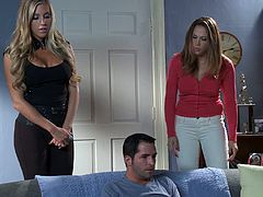 Have a look at this hardcore scene where the horny Chanel Preston is fingered and nailed by this guy as you hear her moan.