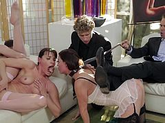 Nothing beats a good group fuck scene where the babes are roughly dominated