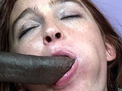 Take a look at this hardcore scene where the slutty Jodi Taylor is gangbanged by a pack of black monster cocks that leave her out of breath.