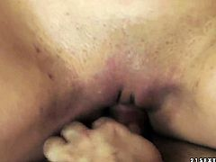 Blonde Chary Kiss lets guy stick his meaty man meat in her mouth
