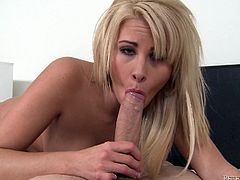 Make sure you take a look at this POV where the busty blonde Jessica Nyx sucks on this guy's big cock until he ends up cumming all over her face.