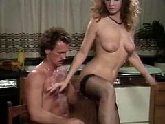 Cock starving brunette housewife gets her hairy cunt plowed doggystyle