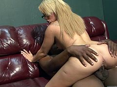 Check out this hardcore scene where the sexy blonde Casey Cumz is fucked silly by a thick black cock in this interracial clip.