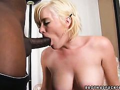 Blonde Naomi Cruise is in the mood for interracial sex