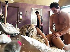 Peter North buries his throbbing snake in lovely Tasha Reigns backdoor
