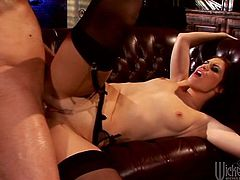 Have a look at this hardcore scene where the slutty brunette Faith Leon is nailed by a big cock as you hear her moan like never before.