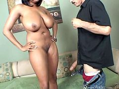 Carmen Hayes takes a ride on an old man's big hard cock