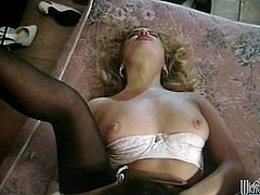 These two women are so fucking sexy! They get to fingering their hot tight holes and making each other scream, hot cougar action!