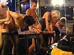 Enjoy wild group scene with babes getting damaged by stiff cocks
