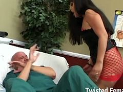 Pornstar dominatrix Ice La Fox hates pathetic men like this one and decided to play it dirty with him. She totally humiliates him and makes him feel so miserable.