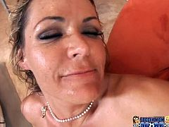 Full figured light haired wanton chick with massive Mamillas gets her incredibly hot blooded twat energetically poked by one horny guy. Take a look at this chubby bitch in My XXX Pass porn video!