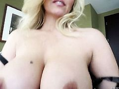 Julia Ann gets her face drilled so hard by Jonni Darkko that she wont beg for more