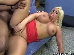 Julie Cash is ready for some hardcore action with a big dicked black dude. Watch her deepthroating his schlong and then taking it ballsdeep into her snatch.