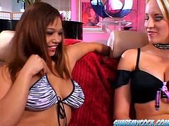 Curvaceous gals Cassidy Blue and Destiny Summers take part in a threesome