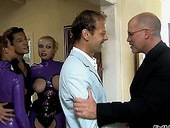 Nacho Vidal makes Nici Sterling gag on his meaty ram rod