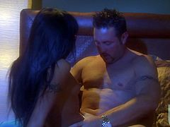 Petite hottie Kaylani Lei is having fun with some man in a hotel room. She gives a blowjob to the dude and then lets him fuck her coochie in side-by-side and other positions.