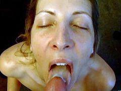 Have a great time with this POV as the slutty milf Marie Madison sucks on this guy's cock until he leaves his creamy semen on her tongue.