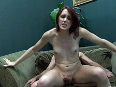 Check out this hot scene where the horny shemale Addy Rose is jerking off and blown by this guy before he fucks this tranny silly.