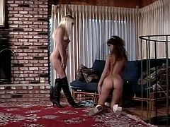 Seductive girls with killer bodies please one another while having spicy lesbian sex. Brunette one facesits blondie moaning and quivering with joy. Awesome retro porn video.