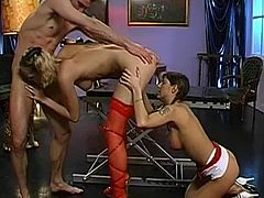 Enjoy nasty babes in rough group action porn show