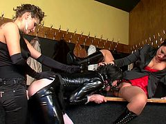 Watch an amazing scene of top femdom porn along these two sluts