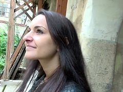 Horny bitch in blach leather jacket walks down the street and suddenly she meets a guy who aks for a blowjob. She takes his pants off and blows his cock. Watch in Mofos Network xxx video.