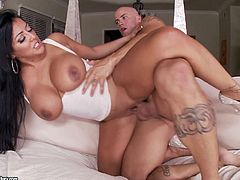 Watch this beautiful hottie while she gets ravaged in a staggering porn show