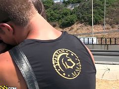 Topless filthy students want outdoor sex. First they give a blowjob on the stones, then get poked by their dudes on the beach whatch this in WTF Pass xxx videos.
