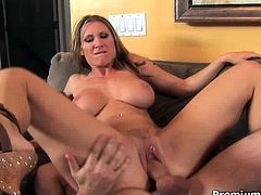 Gorgeous milf Devon Lee opening her legs wide for young