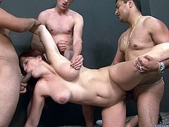 Gangbang sex with a smoking hot redhead