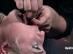 Master A. tortures Niki any way he wants and she listens to him. She does what it takes to reach the orgasm that she craves for. She has to suffer first though.