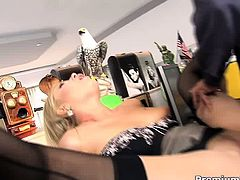 Blonde hottie Donna Bell adores office sex and gets nailed