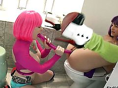 Belladonna is hungry for lesbian sex and gets used by Misti Dawn