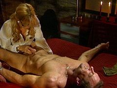 Gorgeous Jessica Drake poses for the painter. After that they have sex. Jessica sucks the guy off and gets fucked in a cowgirl position.