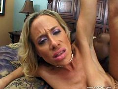 Make sure you take a look at this hardcore interracial scene where the busty blonde milf Kylie Worthy is fucked silly by a large black cock as you hear her moan.