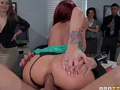 Public cock riding and ass fucking with Monique Alexander