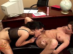 Horny piano teacher and her pupil have a lesbian moment