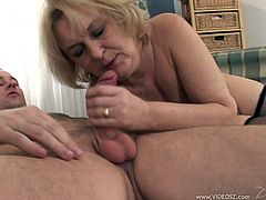 Make sure you have a look at this hot scene where this horny mature blonde's fucked by a guy's hard cock.