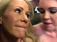 Click to watch a blonde cougar, with giant boobs wearing a miniskirt, with her sweet daughter having interracial sex with a giant black schlong!
