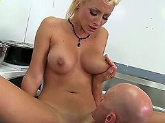 Johnny Sins licks busty blonde Lexi Swallow